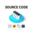 Source code icon in different style vector image