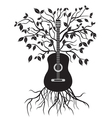 Guitar tree vector image