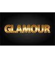 Golden glamour luxury word in black vector image