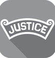 Justice Banner Icon vector image vector image