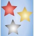 Set of three glowing stars vector image