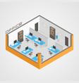 office room it development vector image