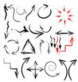 arrow grunge vector image vector image