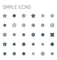 set of simple icons elements sweet pea marigold vector image