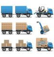 Shipment Icons Set 5 vector image