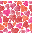 Valentine theme seamless background hearts vector image vector image