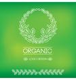 logo organic 02 vector image