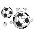 Cartoon football or soccer ball mascot vector image vector image
