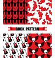 Rock pattern Set seamless patterns theme of rock vector image