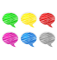 scribbled speech shapes vector image vector image