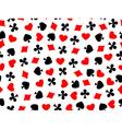 heart clubs spades diamond seamless vector image