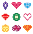 logo icons jewels vector image