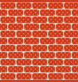 red and brown bricks are seamless fen wall of the vector image