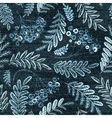 Denim floral seamless pattern Jeans vector image