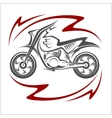 Motorcycle Elements vector image vector image