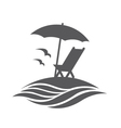 emblem of summer vacation vector image
