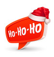 christmas bubble for speech and santa hat vector image vector image