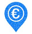 euro pointer grunge icon vector image
