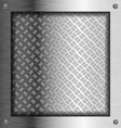 Embossed steel metal frame vector image vector image