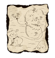 old treasure map vector image vector image