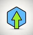 Green arrow sign Appication or web interface icon vector image vector image