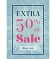 Palm leaf Extra sale up to 50 per cent off Web vector image vector image