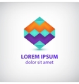 abstract colorful geometric logo vector image
