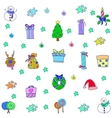 Doodle of christmas for kids object vector image