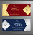 elegant gift voucher or gift card or coupon vector image