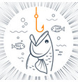 icon fishing linear style vector image