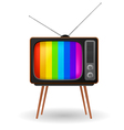 retro tv with color frame vector image