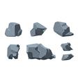 Rock cartoon elements vector image