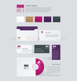 Stationery Branding Mock-Up template vector image