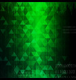technology abstract in green light effect design i vector image