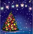 tree lights vector image