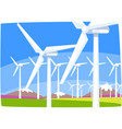 wind power station ecological energy producing vector image