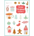Cute Cards Notes Stickers vector image