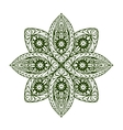 Outline mandala Decorative round ornament vector image vector image