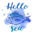 marine summer background with fish vector image