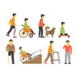 handicapped people with disability limited vector image