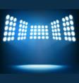 bright spotlights on dark blue background night vector image