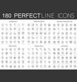 180 modern thin line icons set of household home vector image