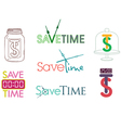 Save time clock vector image
