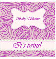 Baby-shower-wave-pattern-twin vector image