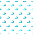 Blue water wave pattern cartoon style vector image