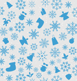 Christmas wallpaper with traditional elements vector image