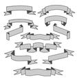 Gray Ribbons Set vector image