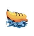 inflatable boat banana vector image