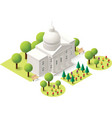 isometric capitol vector image
