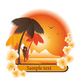 logo tropical island vector image